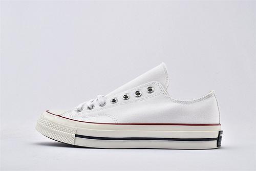 CONVERSE/匡威 1970S 三星黑标低帮滑板鞋/全白 过验版  货号:162056C  男女鞋  情侣款