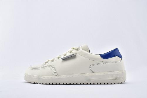 Adidas 三叶草 GARWEN DPZL 休闲板鞋/米白 蓝尾  货号:B41825  男女鞋  情侣款