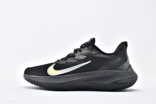 Nike Zoom Winflo 7 登月7代跑步鞋/黑金  货号:AM0291-303  男鞋