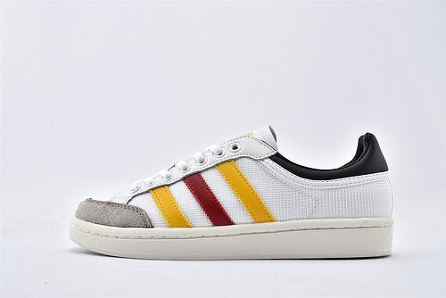 Adidas 三叶草 AMERICANA L 低帮板鞋/白红黄 黑尾  货号:EF2510  男女鞋  情侣款
