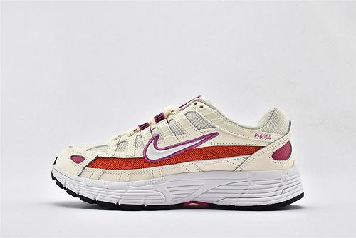 Nike P-6000 复古老爹网面跑鞋/米黄红  货号:CW1351-100  女鞋