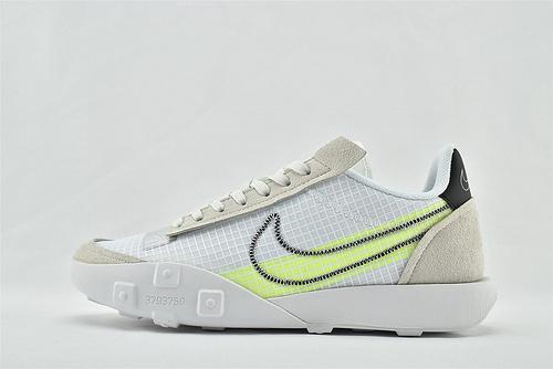 Nike WAFFLE RACER 20 秋季运动跑鞋/华夫2.0 灰白绿  货号:CK6647-100   男鞋