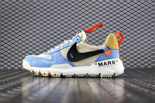 Nike Mars Yard x Off-White 联名款2.0宇航员/复古跑鞋  蓝白 货号:AA2261 118 男女鞋 情侣款