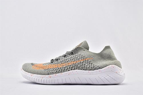 Nike Free RN 赤足系列夏季跑鞋/灰橘 灰橙 满天星  货号:942838-003  男女鞋  情侣款
