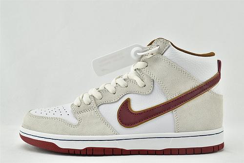 Nike Dunk SB low 高帮滑板鞋/米白红  货号:CV9499-100  男女鞋  情侣款