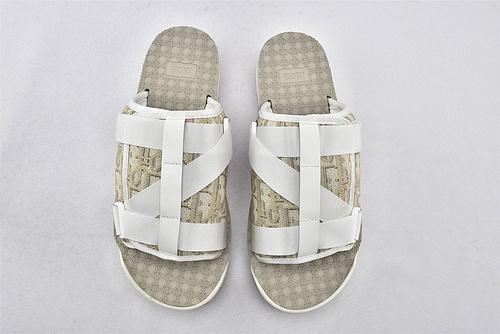 Dior迪奥/ 2020新款 潮流拖鞋/绑带款 三色【亚麻色 黑白 黑灰】 男鞋