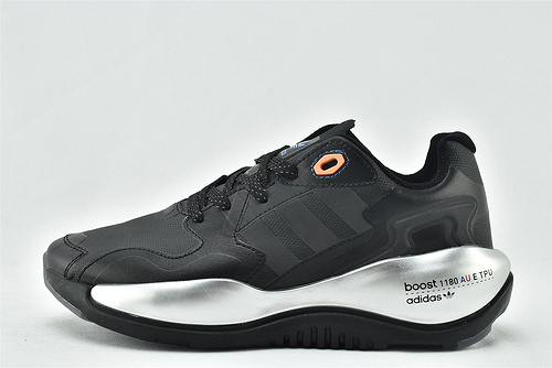 Adidas 三叶草 ZXALKYNEBoost 2020新款爆米花跑鞋/黑银 【180款】原装版  货号:FX6225  男女鞋  情侣款
