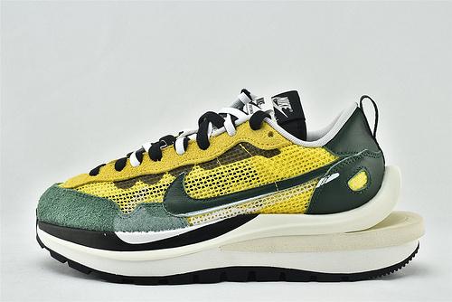 Nike VaporWaffle x Sacai 联名款 华夫3.0跑鞋/黄绿拼色  货号:CV1363-700  男女鞋  情侣款