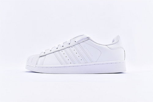 Adidas 三叶草 Superstar 贝壳头系列/头层 全白  货号:B27136  男女鞋  情侣款