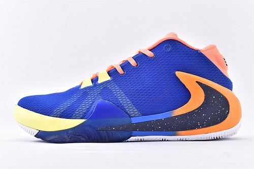 Nike Zoom Freak 1 字母哥1代高端篮球鞋/签名款 蓝橙黑反钩  实战纯原版 货号:BQ5423-801  男女鞋  情侣款