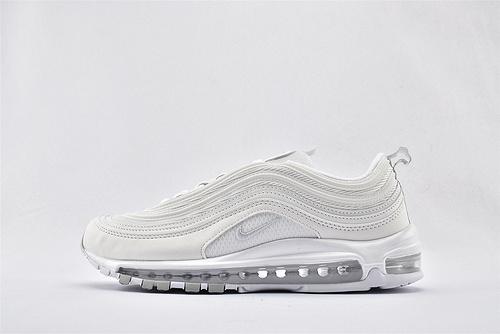 """Nike Air Max97 QS """"Silver Bulle"""" 子弹全掌气垫缓震跑鞋/全白 灰底 2020新版 氮气缓震气垫   货号:921733-100  男女鞋  情侣款"""