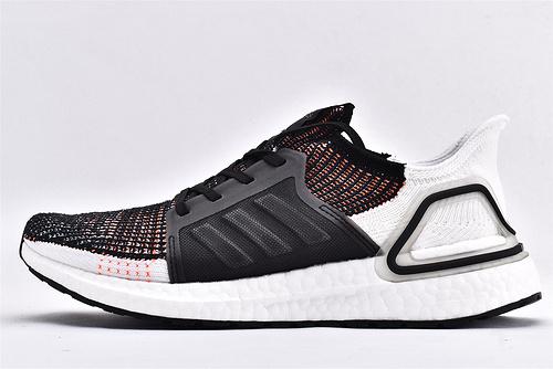 Adidas Ultra Boost UB19 m 爆米花5.0缓震跑鞋/黑白粉  货号:G27519  男女鞋 情侣款