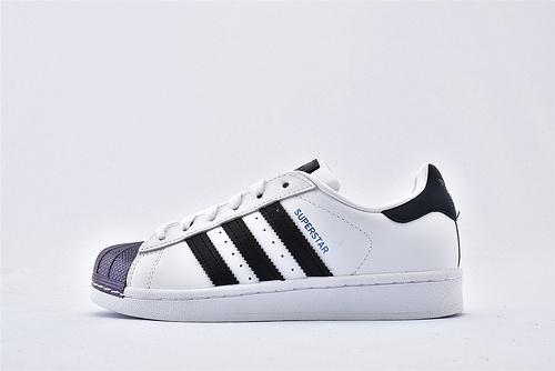 Adidas 三叶草 Superstar 贝壳头系列/白黑 镭射头  货号:FW6387  男女鞋  情侣款