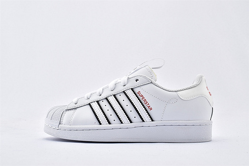 Adidas 三叶草 Superstar 贝壳头板鞋/全白 黑边 原标原盒  货号:FW2856  男女鞋  情侣款