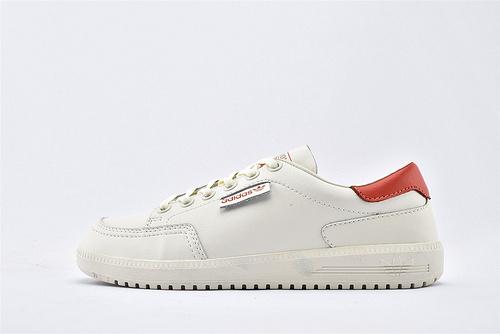 Adidas 三叶草 GARWEN DPZL 休闲板鞋/米白 红尾  货号:B41835  男女鞋  情侣款