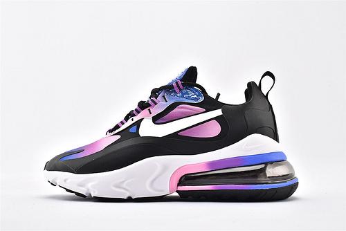 "Nike Air Max 270 React ""BAUHAUS"" 半掌小气垫气垫跑鞋/黑紫渐变 泡棉  货号:BV3387-400  女鞋"