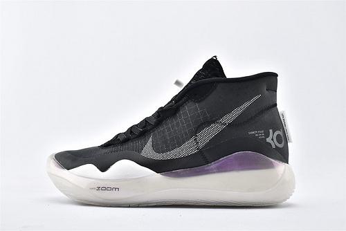 Nike ZOOM KD12 EP 杜兰特12代高端篮球鞋/黑白 首发【实战版】纯原版  货号:AR4230-001  男鞋