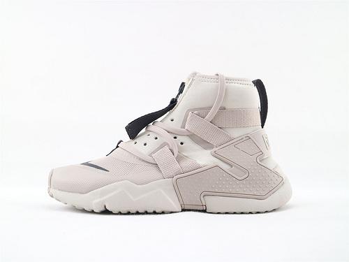 Nike Air Huarache GRIPP (GS)华莱士高帮系列跑鞋/米灰白 爆款  货号:AQ2802 002  女鞋