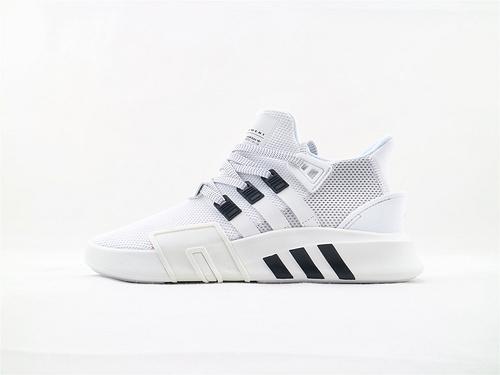 Adidas三叶草EQT BASK ADV 篮球鞋/鹿晗同款 白黑 网面  货号:BD7772  男鞋