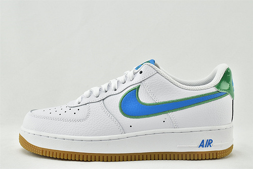 Nike Air Force 1 空军一号/低帮 白蓝 绿尾漆皮  货号:DA4660-100  男女鞋  情侣款