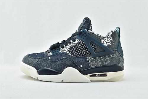 Air Jordan 4 SE AJ4 乔丹4代篮球鞋/日本限定 鸳鸯 牛仔蓝拼接 刺绣   原装版   货号:CW0898-400   男女鞋  情侣款