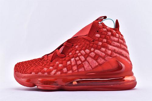 Nike LeBron 17 Bron 2K 詹姆斯17代篮球鞋/中国红 大红 全红  货号:BQ3177-600  男鞋