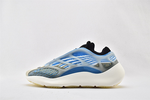 Adidas Yeezy 700 V3椰子复古老爹鞋/异形 黑蓝 夜光面 侃爷最新力作 2020最新款  货号:FW4980    男女鞋  情侣款