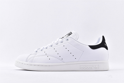 Adidas 三叶草SUPERSTAR 史密斯系列/头层荔枝纹软皮 全白黑尾  货号:BD7436  男女鞋  情侣款
