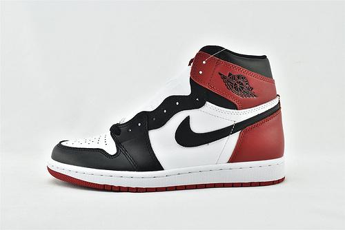 Air Jordan 1 High OG  AJ1 乔丹1代高帮篮球鞋/黑脚趾 经典 白黑红  原装  货号:555088-125   男女鞋 情侣款