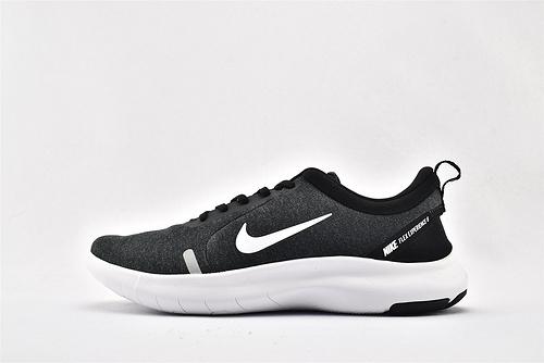 Nike FLEX EXPERIENCE RN 赤足跑鞋/黑白  货号:AJ5900-013  男女鞋  情侣款