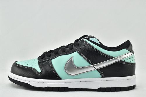 Nike SB Dunk High Diamond Tiffany低帮滑板鞋/2014 钻石 黑蓝  货号:304292-402  男女鞋  情侣款