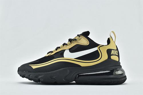 "Nike AirMax 270 React ""BAUHAUS"" 半小掌气垫气垫跑鞋/黑金  3M反光版  货号:CV1632-001  男女鞋  情侣款"