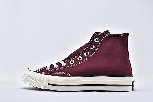 CONVERSE/匡威 1970S 三星黑标高帮滑板鞋/酒红  过验版  货号:162051C  男女鞋 情侣款
