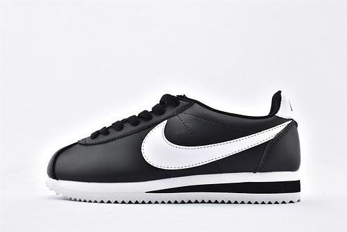 Nike Classic Cortez阿甘系列跑鞋/黑白 经典 纯原版  货号:807471-010  男女鞋 情侣款