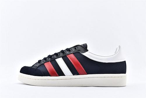 Adidas 三叶草 AmericanaLOW 韩国板鞋/深蓝白红 帆布皮面拼接 原标原盒  货号:EF2511  男女鞋  情侣款