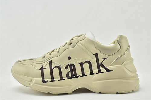Gucci/古驰 做旧复古老爹鞋/经典 字母印花   芯片 版  男女鞋   情侣款