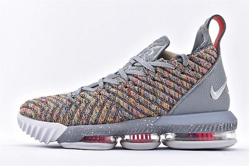 Nike Lebron 16 LBJ16 詹姆斯16代篮球鞋/灰彩虹  原装版  货号:BQ5970-900  男鞋