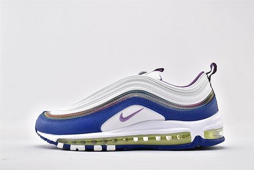 Nike W AIR MAX 97子弹系列跑鞋/复活节 彩蛋  白蓝紫镭色 拼色  货号:CJ0591-100  男女鞋  情侣款