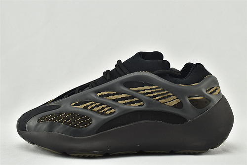 Adidas Yeezy 700 V3椰子复古老爹鞋/异形 黑金  货号:GY0189    男女鞋  情侣款