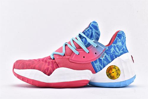 Adidas Harden Vol4.0 哈登4.0篮球鞋/海蓝粉 纯原版  货号:EG2580  男鞋