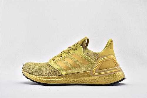 Adidas ULTRA BOOST UB 20 米花缓震跑鞋/土豪金 黄金配色  货号:FY3448  男鞋