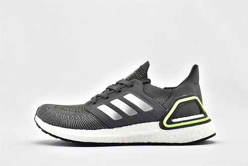 Adidas ULTRA BOOST UB 20 米花缓震跑鞋/灰绿银  货号:EG4368  男鞋