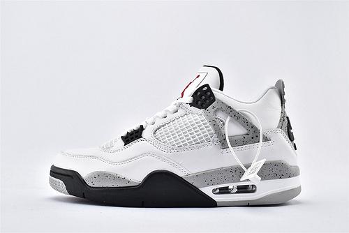Air Jordan AJ4 乔丹4代篮球鞋/白水泥 经典 纯头层 纯原版  货号:840808-192  男鞋