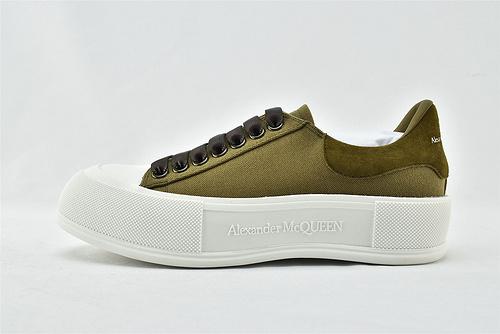 Alexander McQueen sole sneakers 亚历山大-王 2021夏季新款发售 发售 全白 黑白 绿的 粉色 芯片 版  女鞋