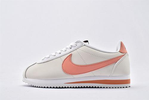 Nike Classic Cortez阿甘系列跑鞋/米白粉拼色 纯原版  货号:807471-018  女鞋