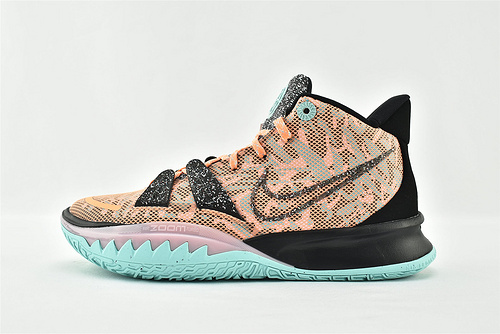 Nike Kyrie 7 Tokyo 欧文7代中帮篮球鞋/全明星 玩转未来 黑橙绿   灭世版  货号:DD1446 800  男鞋