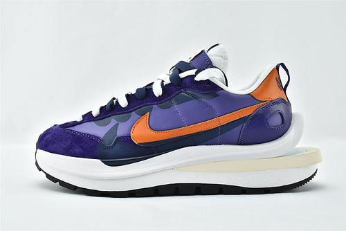 Sacai x Nike LVD Waffle Daybreak 联名走秀款解构高端跑鞋/华夫3.0 紫橙 牛津面  货号:DD1875-200   男女鞋  情侣款