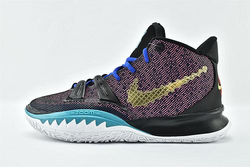 Nike Kyrie 7 Tokyo 欧文7代中帮篮球鞋/黑紫金 中国新年  灭世版  货号:CQ9327-006  男鞋