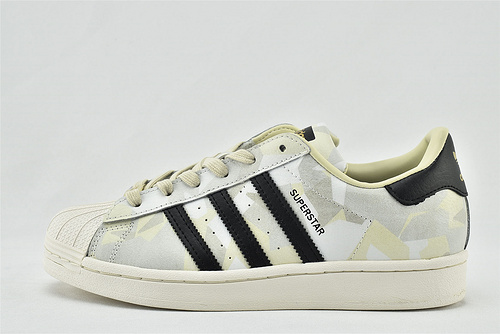 Adidas 三叶草 Superstar 贝壳头板鞋/迷彩 配色  货号:FW4392   男女鞋  情侣款