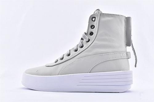 彪马/PUMA XO PARALLE X The WeekndL联名高帮板鞋/浅灰白 全头层 高街  货号:365039-01  男女鞋  情侣款